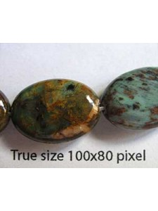 Green Opal Oval 13x18mm 40cm ~22 beads