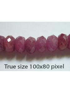 Ruby FC Rondelle 5x8mm 41 cm strand