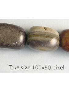 Nugget 12x16mm Silver Leaf 16in strand