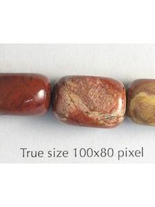 Nugget 10x15mm Rainbow Jasper 16in