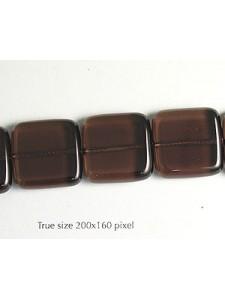 Square Bead 20x20mm Smokey Quartz 16in