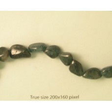Apatite Dark 13-18mm Tumbled 16in strand