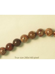 Breccicated Jasper 10mm Round 16inch str