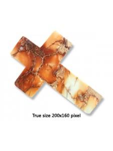 Cross 60x40mm Empirical Jasper White/red