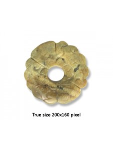 Old Jade Carved Donut 40mm.