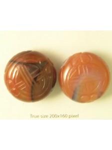 Carnelian Carved Bead 30mm