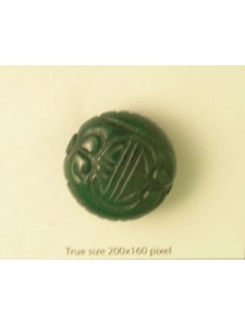 Green Jade Carved bead 30mm