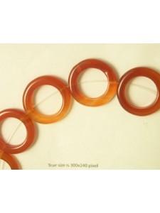 Carnelian 30x5mm Donut 16 inch strand
