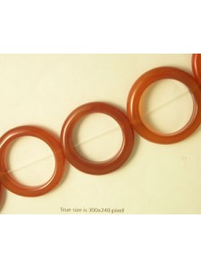 Carnelian 40x5mm Donut 16 inch strand