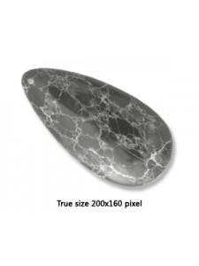 Tear Drop Pend. Black Emp Jasper 30x60mm