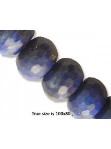 Lapis Faceted Rondel 14mm 16inch