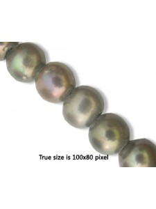 Freshwater Pearl 10mm (2mm H) Grey 16in