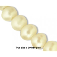 Freshwater Pearl 10mm (2mm H) White 16in