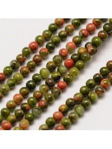 Unakite 2mm round Beads H:0.8mm 16inch