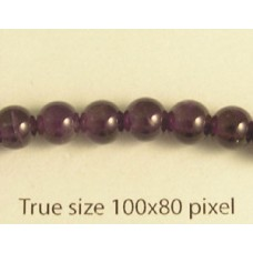 Amethyst Round 6mm Bead 15.3 in ~65 bead