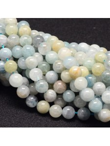 Aquamarine Natural Round 6mm ~64 beads