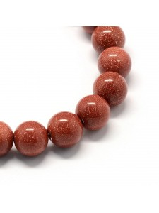 Goldstone Round 6mm ~66 beads