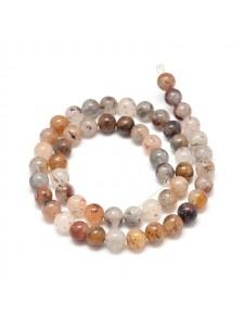 Lodomite Quartz Round 6mm ~62 beads