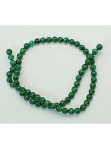 Malachite Synthetic Round 6mm ~63 beads