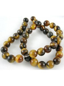 Tiger Eye Brown 6mm Round bead 15in stra