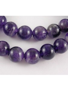 Amethyst 10mm Round H:1mm 15in ~40 beads