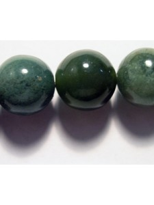 Green Agate 12mm Round Bead 16in strand