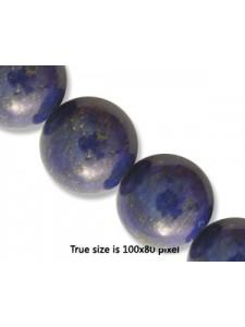 Lapis 14mm Round Bead. 16 inch