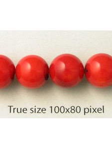 Red Coral (dyed) 10mm Round 16in strand