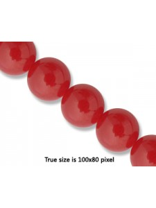Red Agate 10mm Round 16 in strand
