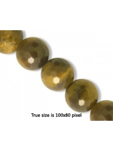 Tigereye Brown 10mm Round Faceted 16inch
