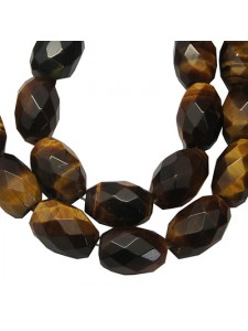 Tiger Eye Faceted Rice 10x14mm 16in str