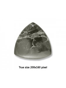 Triangle Pend Black Emp Jasper 40mm