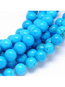 Natural Turquoise Dyed Cyan 10mm ~40pcs