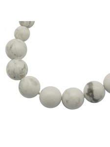 White Howlite graduated 6-10mm RD 18in