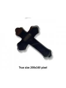 Cross (mixed designs) Hematite - EACH