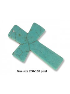 Cross Synthetic Turquoise 40x60mm (H1mm)