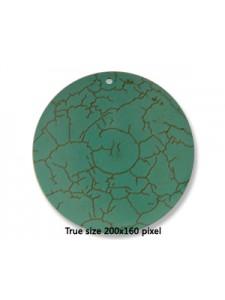 Turquoise (Howlite) Round 50x9mm Pendant