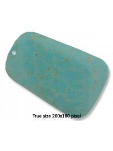 Turquoise (Howlite) Trapez 40x60mm Pend.