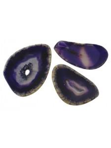 Agate Slices Dark Purple - PER GRAM