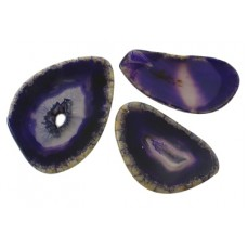 Agate Slices Dark Purple - PER GRAM