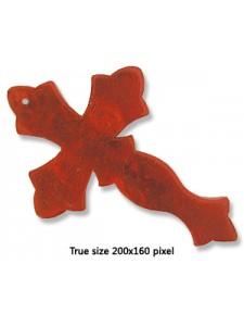 Cross Red (Howlite) 50x75x6mm H:1.2mm