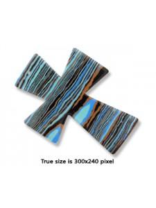 Cross Synthetic Malachite 55x70x9mm H1.3