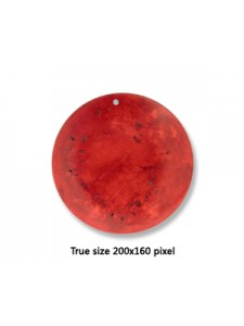 Agate Disc Dyed Red 40x8mm H:1 Pendant