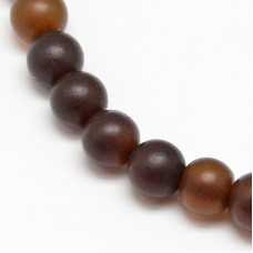 Amber Dark matt RD Bead 8mm H:1mm -EACH
