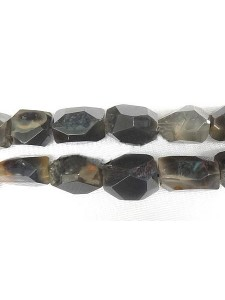 Grey Agate Faceted Nugget 18-24mm