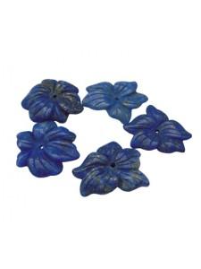 Lapis Lazuli Flower ~23mm diameter H:3mm