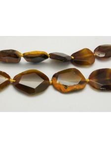 Gemstone Slice Bead 22-48mm Dark Golden