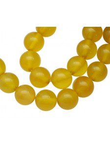 Agate ( Dyed Yellow) 6mm Round 15in str