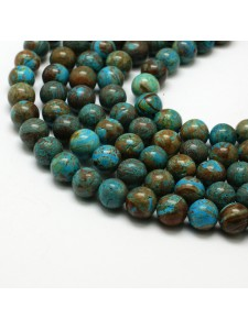 Natural Chrysocolla Dyed 8mm ~49 bead