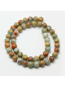 Natural Serpentine Round 8mm ~51 beads